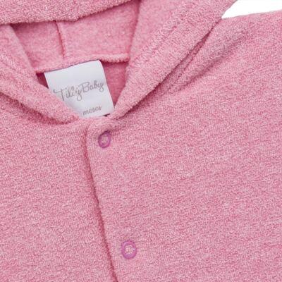 Imagem 3 do produto Casaco c/ capuz e Calça para bebe em soft Rosa - Tilly Baby - TB0172020.10 CONJ. CASACO COM CALÇA SOFT ROSA-2