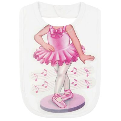 Imagem 2 do produto Babador Maxi em suedine Mini Ballerina - Mini Mix - MXBAM1607 BABADOR MAXI SUEDINE BAILARINA