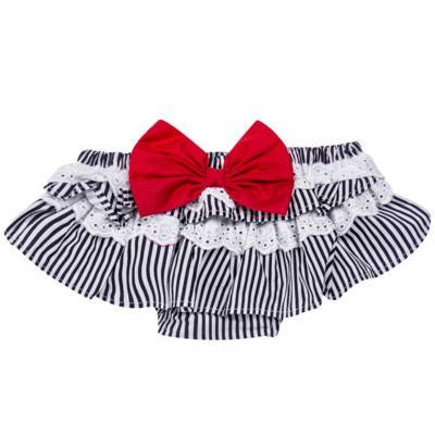 Imagem 3 do produto Conjunto de banho para bebê Sailor: Bumbum + Faixa de Cabelo - Roana - BAST0901008 BANHO DESOL TURBANTE 124 MARINHO-P