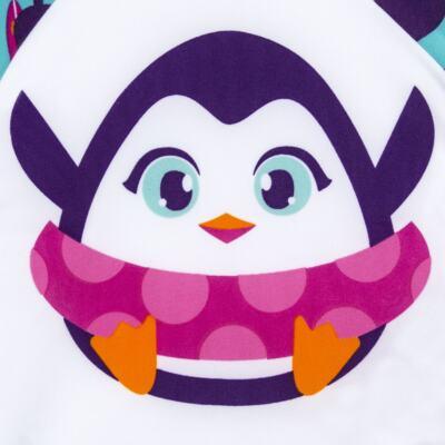 Imagem 3 do produto Conjunto de banho Pinguim: Camiseta + Maiô - Puket - KIT PK PINGUIM Camiseta + Maio Pinguim Puket-6-9