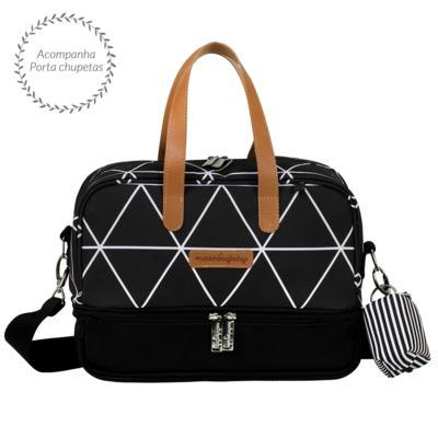 Imagem 3 do produto Bolsa 4 em 1 Sofia + Frasqueira térmica Vicky + Frasqueira Organizadora Manhattan Preto - Masterbag