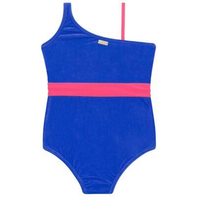 Imagem 3 do produto Maiô em Lycra aveludado Blue & Pink - Cara de Criança - M1274 VEL VET MAIO LYCRA-1