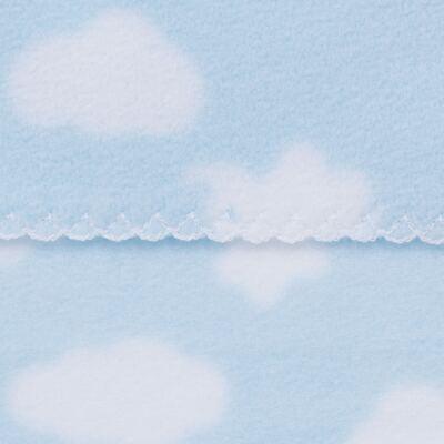 Imagem 2 do produto Manta para bebe em microsoft Nuvens Azul - Dedeka - DDK17660/E178 MANTA MICROSOFT NUVEM AZUL