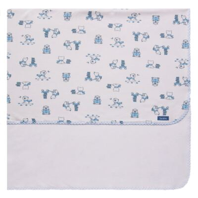 Imagem 1 do produto Manta para bebe em suedine Smart Bear - Dedeka - DDK16569/E110 Manta Dupla Suedine Urso Azul