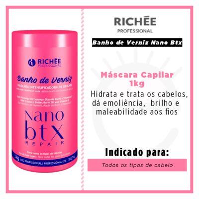 Imagem 2 do produto Richée Professional Banho de Verniz Nano Btx - Máscara Capilar - 1kg