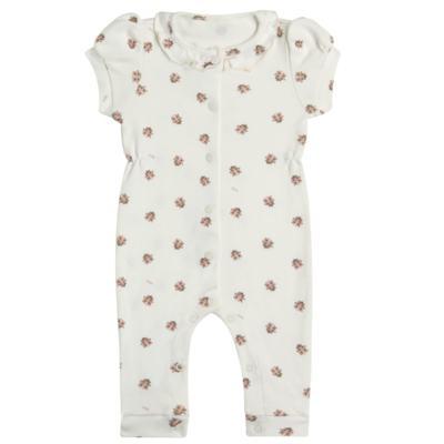 Imagem 1 do produto Macacão curto c/ golinha para bebe em algodão egípcio Ladybug - Bibe - 39C01-G68 MAC FEM MC JOANINHA-RN