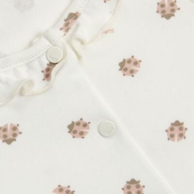 Imagem 2 do produto Macacão curto c/ golinha para bebe em algodão egípcio Ladybug - Bibe - 39C01-G68 MAC FEM MC JOANINHA-RN