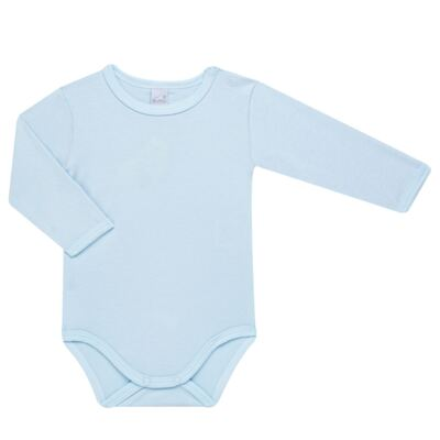 Imagem 2 do produto Body longo com calça para bebe em algodão egípcio c/ jato de cerâmica e filtro solar fps 50  Blue Little Toys - Mini & Kids - CS551.321 CONJ BODY ML C/ MIJAO ESTRELAS AZUL-P