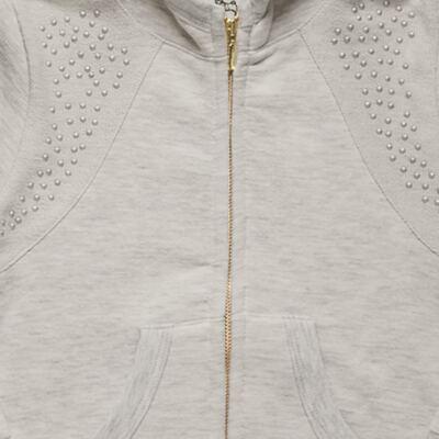 Imagem 3 do produto Blusão com Capuz e Calça em moletom Mescla - Charpey