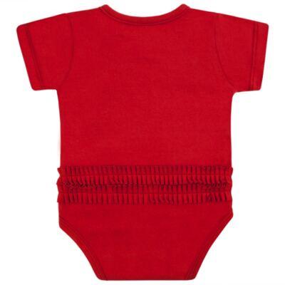 Imagem 4 do produto Body curto para bebe em cotton Coroinhas - Vicky Lipe - 89843 BODY MC FEMININO COTTON COROA-G