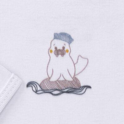 Imagem 3 do produto Body longo c/ Calça para bebe em algodão Wally - Dedeka - DDK16576/E112 Conjunto de Body Ribana Morsa -RN