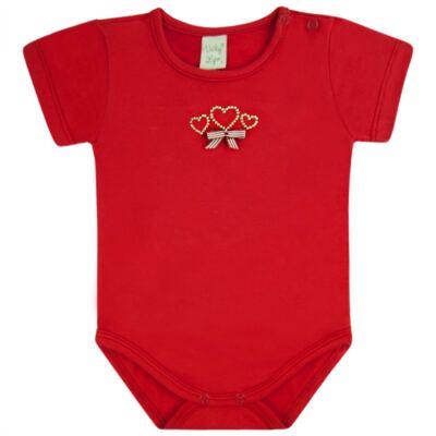 Imagem 1 do produto Body curto para bebe em cotton Coroinhas - Vicky Lipe - 89843 BODY MC FEMININO COTTON COROA-GG