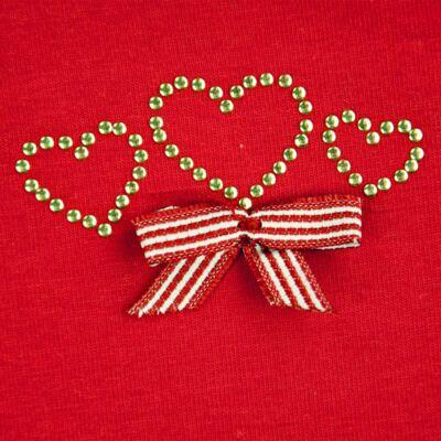 Imagem 2 do produto Body curto para bebe em cotton Coroinhas - Vicky Lipe - 89843 BODY MC FEMININO COTTON COROA-P