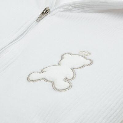 Imagem 3 do produto Saco de dormir em plush cotelê Honey Bear Blanc - Baby Classic - 19121274 SACO DE DORMIR PLUSH URSO 2