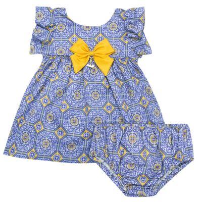 Imagem 1 do produto Vestido c/ calcinha para bebe Azulê - Roana - 24042059022 VESTIDO C/CALCINHA AZUL-G