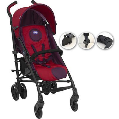 Imagem 1 do produto Carrinho de bebê Lite Way Basic Red Wave com barra de proteção Frontal Preta- Chicco