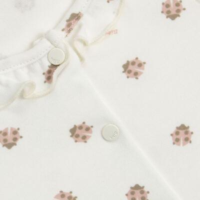 Imagem 2 do produto Macacão curto c/ golinha para bebe em algodão egípcio Ladybug - Bibe - 39C01-G68 MAC FEM MC JOANINHA-M