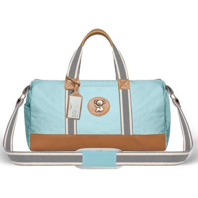 Imagem 2 do produto Bolsa Passeio para bebe + Bolsa Albany + Frasqueira Térmica Gold Coast + Trocador + Porta Mamadeira em sarja Adventure Azul - Classic for Baby Bags