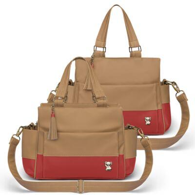 Imagem 1 do produto Bolsa maternidade para bebe Genebra + Frasqueira Térmica Zurique Due Colore Coral - Classic for Baby Bags