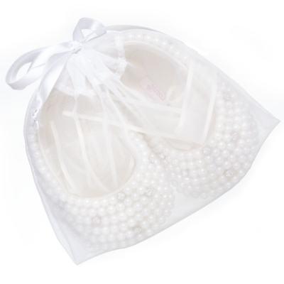 Imagem 4 do produto Sapatilha para bebe em cetim Pérolas & Strass - Roana