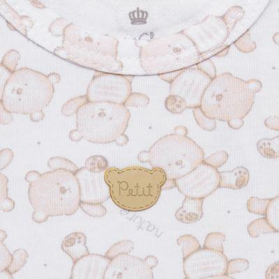 Imagem 3 do produto Regata com Cobre fralda para bebe em algodão egípcio c/ jato de cerâmica Nature Little Friends - Mini & Classic - CJRR650 REGATA C/COBRE FRALDA SUEDINE NATURE-G