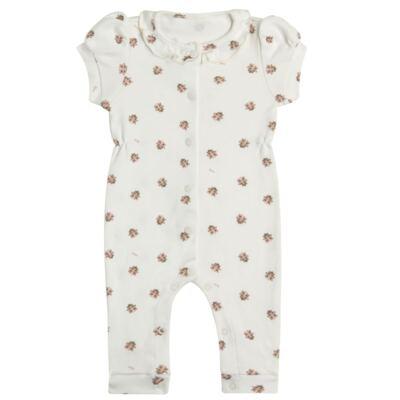 Imagem 1 do produto Macacão curto c/ golinha para bebe em algodão egípcio Ladybug - Bibe - 39C01-G68 MAC FEM MC JOANINHA-G