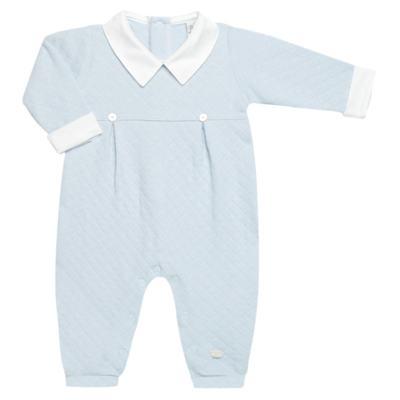 Imagem 1 do produto Macacão longo c/ golinha para bebe em viscomfort Bleu - Petit - 22104345 MACACAO C/ GOLA E PALA MATELASSE OVELHA MASC-M