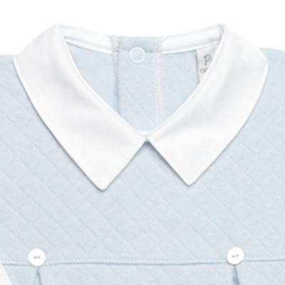 Imagem 2 do produto Macacão longo c/ golinha para bebe em viscomfort Bleu - Petit - 22104345 MACACAO C/ GOLA E PALA MATELASSE OVELHA MASC-M
