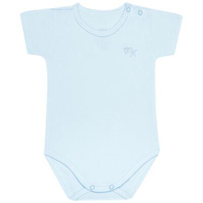 Imagem 1 do produto Body curto para bebe em Pima Cotton Supreme Azul - Mini & Kids - BSM91 BODY MC SUEDINE AZUL BB-GG