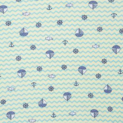 Imagem 2 do produto Body curto para bebe em algodão egípcio c/ jato de cerâmica e filtro solar fps 50  Little Boat - Mini & Kids - BSM1747 BODY MC SUEDINE NAVY-RN