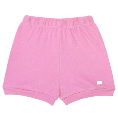Imagem 4 do produto Body curto com Shorts em algodão egípcio c/ jato de cerâmica e filtro solar fps 50 L'Hortensia - Mini & Kids - CBS1746 CJ. BODY MC SHORTS SUEDINE HORTÊNCIAS-G