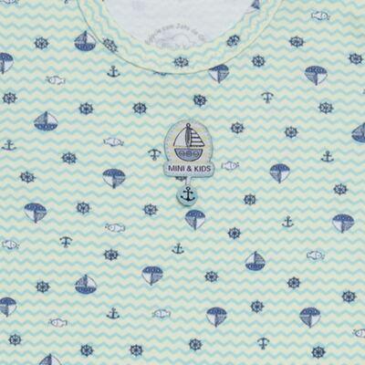 Imagem 3 do produto Body curto com Shorts em algodão egípcio c/ jato de cerâmica e filtro solar fps 50 Little Boat - Mini & Kids - CBS1747 BODY MC SHORTS SUEDINE NAVY-M