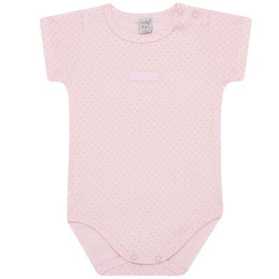 Imagem 1 do produto Body curto para bebe em suedine Classic Girls - Vicky Lipe - BCE560 BODY MC ESTAMPADO SUEDINE CLASSICO-M
