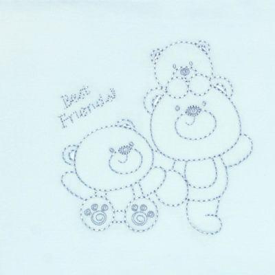 Imagem 2 do produto Jogo de lençol em malha para berço Ursinho - Classic for Baby - JLMP282 JOGO DE LENÇOL MALHA URSINHO