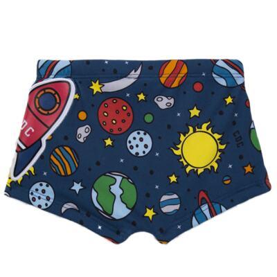 Imagem 4 do produto Conjunto de Banho para bebe Galaxy: Camiseta + Sunga - Cara de Criança - KIT 1 2578: SBB2578+CCAB2578 SUNGA E CAMISETA ESPACIAL-G