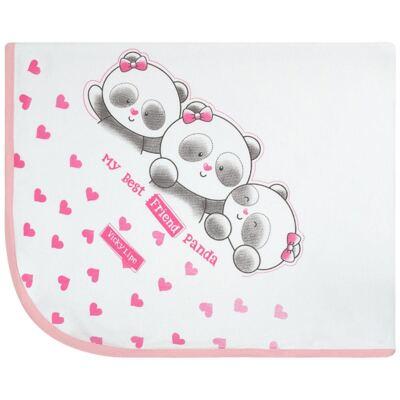 Imagem 1 do produto Manta em suedine Ursa Panda - Vicky Lipe - 930247 MANTA AVULSA SUEDINE URSA PANDA