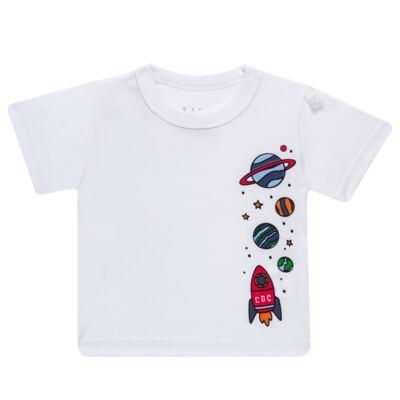 Imagem 2 do produto Conjunto de Banho para bebe Galaxy: Camiseta + Sunga - Cara de Criança - KIT 1 2578: SBB2578+CCAB2578 SUNGA E CAMISETA ESPACIAL-GG