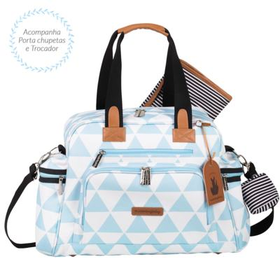 Imagem 4 do produto Mala maternidade Vintage + Bolsa Everyday + Frasqueira térmica Emy + Mochila Noah + Necessaire Manhattan Azul - Masterbag