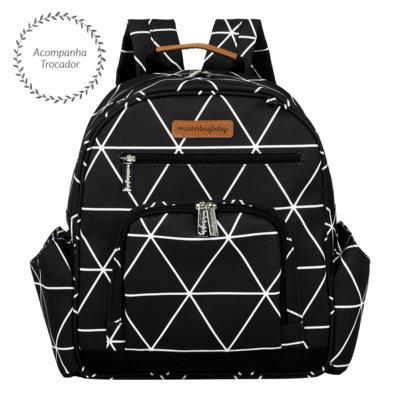 Imagem 4 do produto Mala Maternidade com Rodízio + Bolsa Everyday + Frasqueira térmica Emy + Mochila Noah Manhattan Preta - Masterbag
