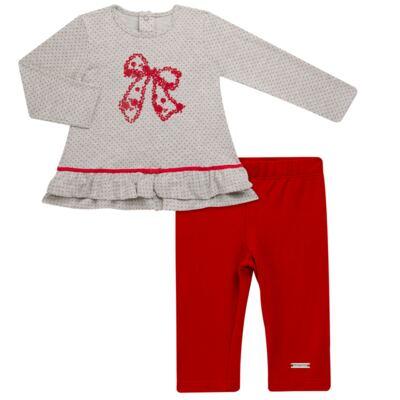 Imagem 1 do produto Bata com Legging para bebe em cotton Ribbon Roses - Baby Classic - 18210002.21 BLUSA C/ LEGGING  MALHA/ COTTON LACO-3