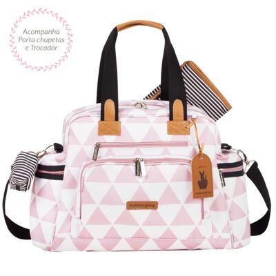 Imagem 3 do produto Mala maternidade com Rodízio + Bolsa Everyday + Frasqueira Organizadora + Necessaire Manhattan Rosa - Masterbag