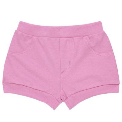 Imagem 5 do produto Body curto com Shorts para bebe em algodão egípcio c/ jato de cerâmica e filtro solar fps 50 L'Hortensia - Mini & Kids - BBI1746 CONJ. BODY M/C C/ SHORTS SUEDINE HORTÊNCIAS-P