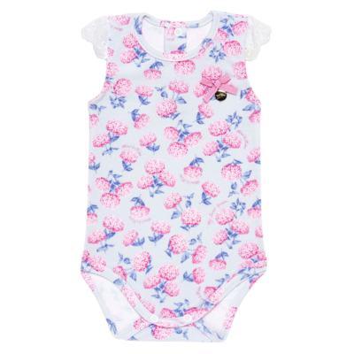 Imagem 2 do produto Body curto com Shorts para bebe em algodão egípcio c/ jato de cerâmica e filtro solar fps 50 L'Hortensia - Mini & Kids - BBI1746 CONJ. BODY M/C C/ SHORTS SUEDINE HORTÊNCIAS-M