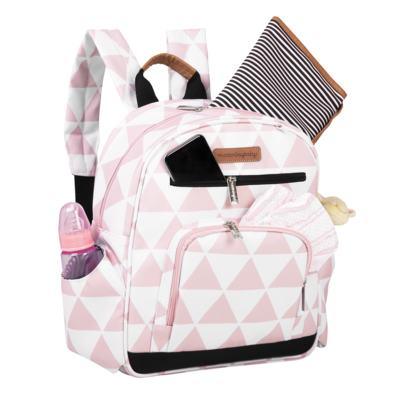 Imagem 5 do produto Mala Maternidade com Rodízio + Bolsa Everyday + Frasqueira térmica Emy + Mochila Noah Manhattan Rosa - Masterbag
