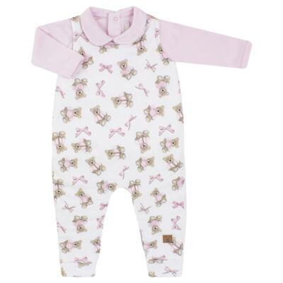 Imagem 1 do produto Jardineira com Body longo para bebe em viscomfort Bellamy - Petit - 16084168 JARDINEIRA BODY ML VISCOMF/ SU URSA -G