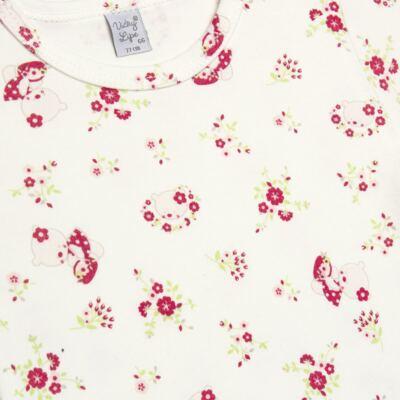 Imagem 2 do produto Body curto para bebe em suedine Flowery Bear - Vicky Lipe - BCE1360 BODY MC ESTAMPADO SUEDINE URSA FLORAL-GG