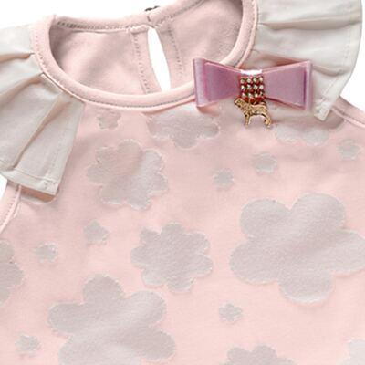 Imagem 3 do produto Blusinha c/ Shorts para bebe em cotton Candy - Charpey - CY20178.10307 CONJ REGATA C/ SHORT ALGODÃO DOCE-P