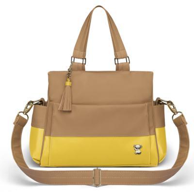 Imagem 2 do produto Bolsa maternidade para bebe Genebra + Frasqueira Térmica Zurique + Trocador Portátil Due Colore Amarelo - Classic for Baby Bags