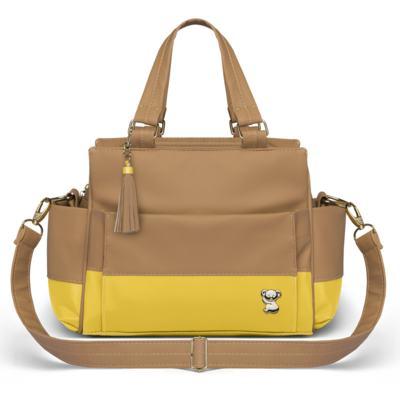 Imagem 3 do produto Bolsa maternidade para bebe Genebra + Frasqueira Térmica Zurique + Trocador Portátil Due Colore Amarelo - Classic for Baby Bags