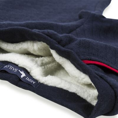 Imagem 5 do produto Calça para bebe Matelassê & Pelúcia Marinho - Mini Sailor - 41644262 CALÇA FORRADA BOLSO E VIVO MATELASSE MARINHO -3-6
